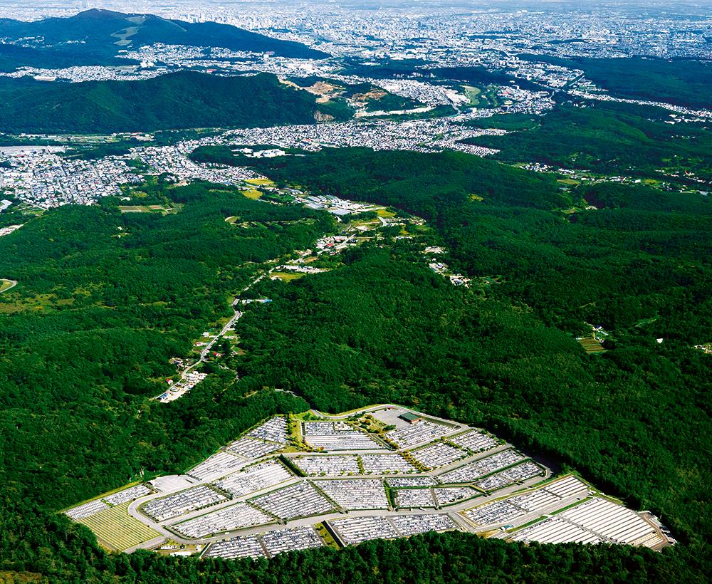 藤野聖山園航空写真